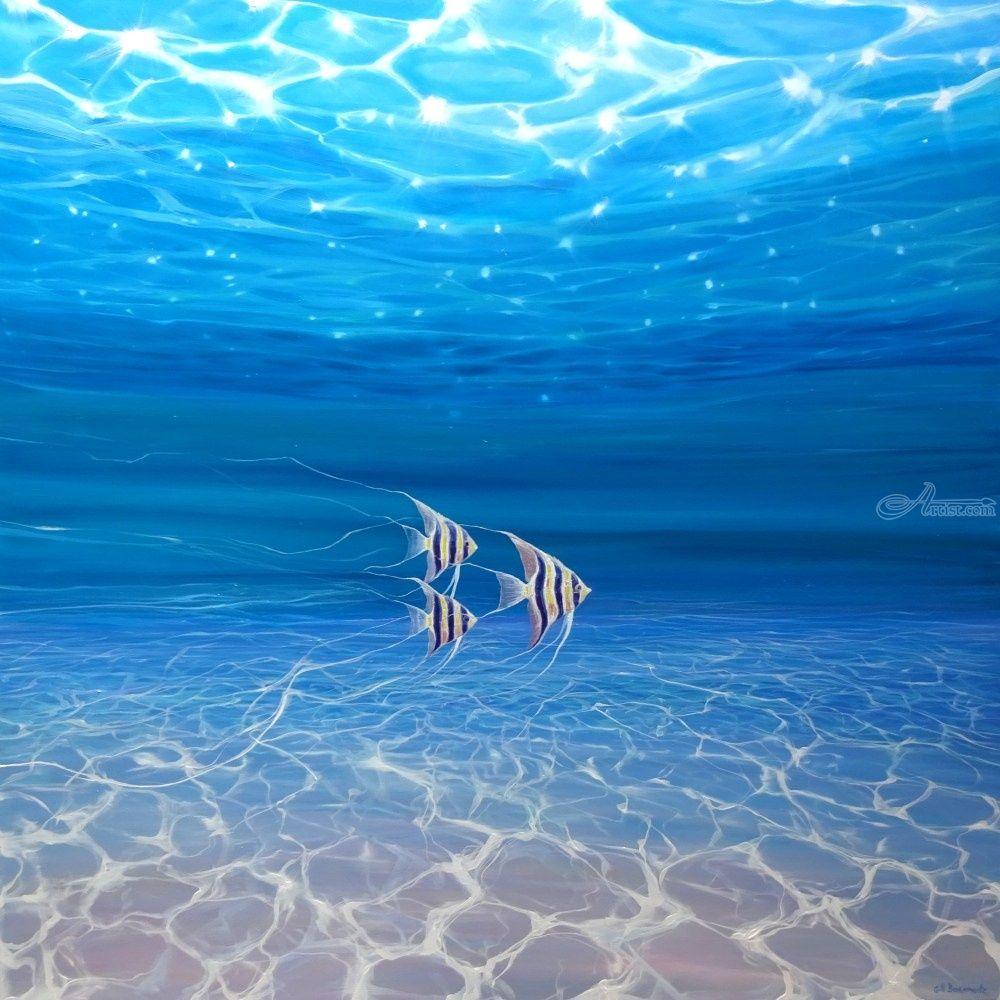 Under the Sea Angels - a large original underwater ...