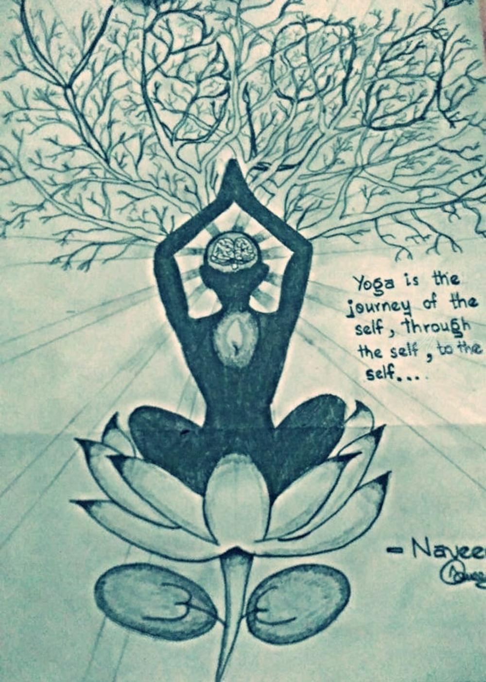 Yoga Drawings Sketch By Naveen Kumar Artist Com