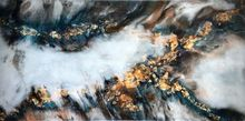 'Gold Strike', Paintings, Abstract, Nature, Epoxy, By Kim Switzer