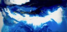 'Just Blue', Paintings, Abstract, Decorative, Epoxy, By Kim Switzer