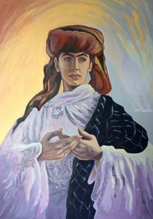 *Prince of Persia*(acrylic on cardboard), Paintings, Fine Art, Portrait, Acrylic, By Victoria Trok