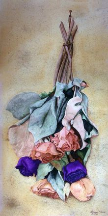 """ Remains of a Summer"", Paintings, Realism, Botanical, Watercolor, By William Clark"