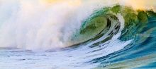 """Rolling Emerald"" Limited Edition, Photography, Fine Art, Seascape, Acrylic,Digital,Photography: Premium Print, By Chris Kay"