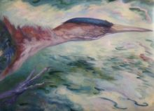 Least Bittern, Paintings, Realism, Animals, Oil, By Laurie S Auth