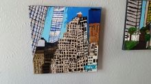 The Trade Center, Paintings, Abstract, Window on the World, Acrylic, By Terry Karasewich
