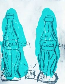 """Two Bottles"", Drawings / Sketch, Pop Art, Composition, Charcoal, By Adam Cook"