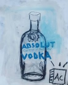 """Absolut"", Drawings / Sketch, Pop Art, Composition, Acrylic, By Adam Cook"