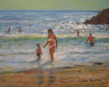 Another Hot Day, Paintings, Impressionism, Seascape, Acrylic, By John Richie
