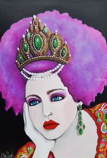 Anya (Anastasia) of Russia, Paintings, Modernism,Pop Art,Realism, Fantasy,Figurative,Portrait, Acrylic, By Lynne Bolton
