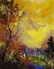 autumn 453111, Paintings, Impressionism, Landscape, Canvas, By Pol Ledent
