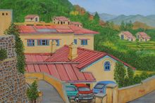 Beautiful Homes, Paintings, Realism, Landscape, Canvas, By Ajay Harit