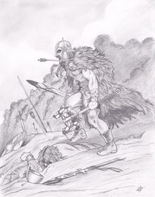 Berserker, Drawings / Sketch, Realism, Fantasy, Pencil, By Harold Taylor