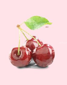 Cherry, Digital Art / Computer Art, Commercial Design, Fine Art, Modernism, Pop Art, Realism, Analytical art, Decorative, Floral, Nature, Still Life, Canvas, Digital, Photography: Metal Print, Photography: Photographic Print, Photography: Premium Print, Photography: Stretched Canvas Print, By zelko radic bfvrp