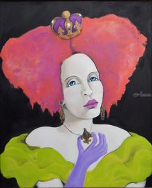 Collette of Monte Carlo, Paintings, Modernism,Realism, Fantasy,Figurative,Portrait, Acrylic, By Lynne Bolton