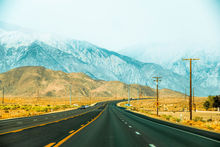 countryside road with mountains and foggy sky in California, USA, Photography, Photorealism, Landscape, Nature, Digital, Photography: Photographic Print, By sutee monchitnukul
