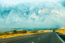 countryside road with mountains and foggy sky view in California, USA, Photography, Photorealism, Landscape, Nature, Digital, Photography: Photographic Print, By sutee monchitnukul