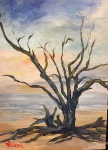 Driftwood Beach, Paintings, Realism, Landscape, Oil, By Sherry Robinson