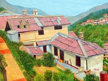 Dwellings in Nainital, Paintings, Expressionism,Photorealism,Realism, Landscape, Canvas, By Ajay Harit