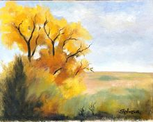 Fall in Damar, Paintings, Realism, Landscape, Oil, By Sherry Robinson