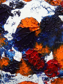 FALLING LEAVES 2, Collage, Paintings, Abstract, Fine Art, Modernism, Botanical, Floral, Canvas, By William Birdwell