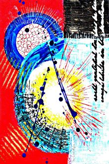 Fanfare, Paintings, Abstract, Avant-Garde, Acrylic, By Sévi Cabell Maghee
