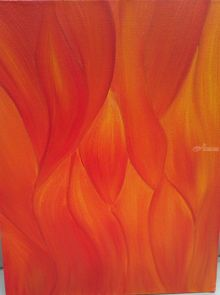 Fire desire, Paintings, Abstract,Modernism, Conceptual, Canvas,Oil, By supreet gujral