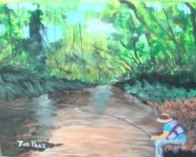 Fishing, Paintings, Realism, Nature, Acrylic, By JOE Pace