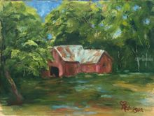 Forgotten Barn, Paintings, Realism, Landscape, Oil, By Sherry Robinson