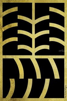 Gold and Black, Digital Art / Computer Art, Abstract,Modernism, Avant-Garde,Composition,Decorative, Digital, By Sévi Cabell Maghee