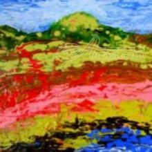 Hudson Valley, Paintings, Abstract, Landscape, Acrylic, By Joe Spinella
