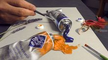 HYPER REALISM painting in 3D/ oil tube paints Master Class St-Petersburg, Illustration, Photorealism,Realism, 3-D,Still Life, Mixed,Oil,Painting,Pencil, By Stefan Pabst