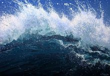 "LARGE painting ""Waves"", Paintings, Abstract, Landscape,Nature,Seascape, Acrylic,Canvas, By Irini Karpikioti"