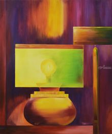 Light and stone, Paintings, Abstract, Decorative, Canvas, Oil, Wood, By MARINA VENEDIKTOVA