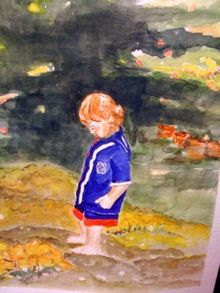 Little Boy, Paintings, Realism, Children, Watercolor, By Lora Roberts