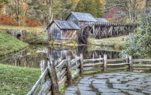 Mabry Mill in Autumn, Photography, Fine Art, Landscape, Photography: Photographic Print, By Carol Milazzo DiRenzo