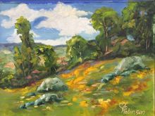 Meadow Hillside, Paintings, Realism, Landscape, Oil, By Sherry Robinson