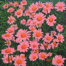 Morning Bloom I, Paintings, Expressionism, Floral, Canvas, By Ajay Harit
