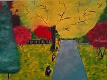 Morning scene, Paintings, Abstract,Expressionism,Realism, Landscape, Canvas,Oil, By supreet gujral