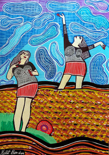 New paintings from Israel by Mirit Ben-Nun, Paintings, Pop Art, People, Gouache, By Mirit Ben-Nun