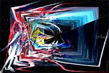 Oribilis I, Paintings, Abstract, 3-D,Avant-Garde,Fantasy,Grotesque, Acrylic,Digital, By Sévi Cabell Maghee