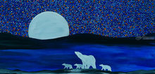 Polar night, Paintings, Fine Art, Photorealism, Animals, Celestial / Space, Canvas, By Rachel Olynuk