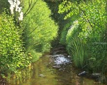 Reflections, Paintings, Photorealism,Realism, Landscape,Nature, Oil, By Dejan Trajkovic