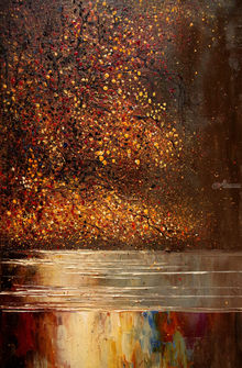 River, Paintings, Impressionism, Inspirational, Landscape, Nature, Canvas, Oil, By Justyna Kopania