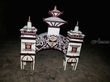 Sankaracharaya gate, Paper Art, Fine Art, Architecture, Mixed, By Raj Rauniyar