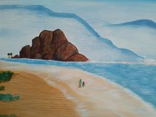 seascape, Paintings, Realism, Seascape, Canvas,Oil, By supreet gujral
