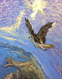 Sense of the Flight(acrylic on canvas), Paintings, Fine Art, Landscape, Acrylic, By Victoria Trok