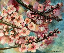 Spring orchard, Paintings, Fine Art, Botanical,Floral,Nature, Acrylic, By Marta Kuźniar