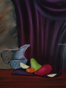 Still life, Paintings, Fine Art, Still Life, Canvas,Oil, By supreet gujral