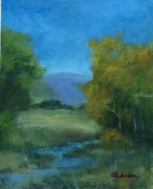 Still Waters, Paintings, Realism, Landscape, Oil, By Sherry Robinson