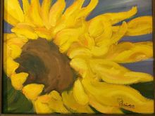 Sunflowers, Paintings, Realism, Botanical, Oil, By Sherry Robinson